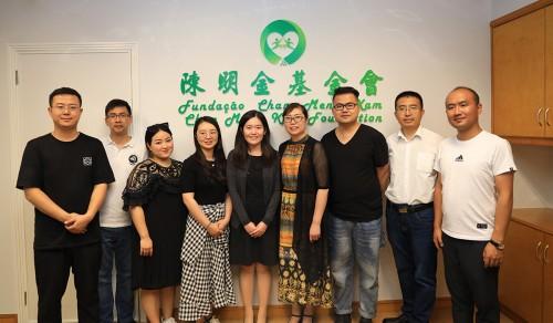 寧夏青聯訪陳明金基金會